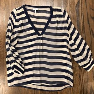 Navy Striped Joie Blouse